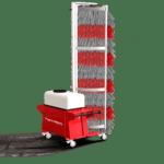 Versione con base mobile e spazzola rotante - impianto monospazzola